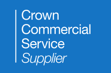 Crown Commercial Services logo. style=